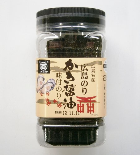 【 広島名産 】 かき醤油味付のり 角60枚