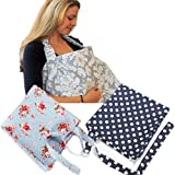 Cover Baby Infant Blue Breastfeeding Nursing Blanket Cloth