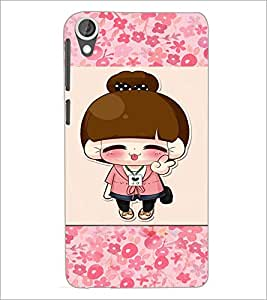 PrintDhaba Cartoon D-4722 Back Case Cover for HTC DESIRE 820 (Multi-Coloured)