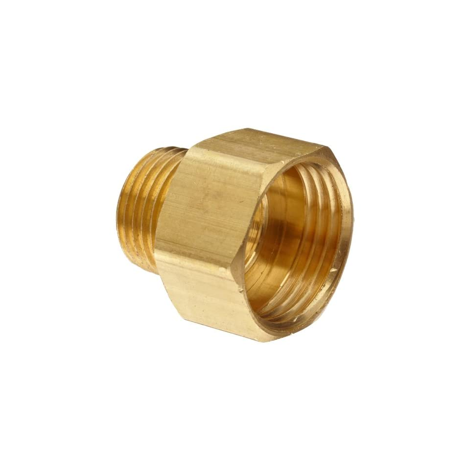 Anderson Metals Brass Garden Hose Fitting, Connector, 3/4 Female Hose ID x 1/2 Male Pipe