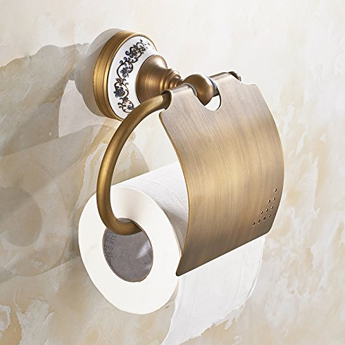 RRJH In ottone solido supporto tessuto europeo antichi porta-carta igienica e toilette scatole di accessori da bagno wc porta bobina