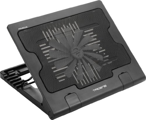 """Tacens Abacus - Base de refrigeración para ordenador portátil de hasta 17"""" (Ventilador interno silencioso, USB 2.0), Negro"""