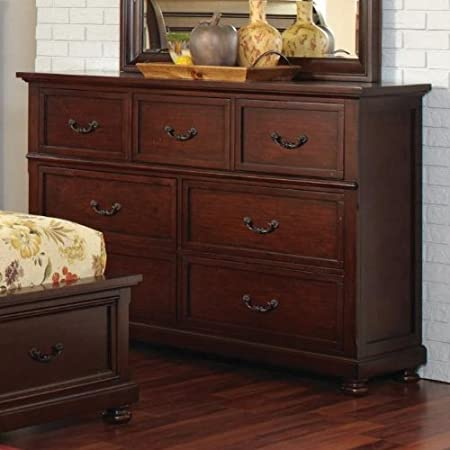 Coaster Home Furnishings Country Dresser, Dark Cherry