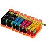 8 Pack Compatible Lexmark 100XL / #100 / 100 High Yield 2 Black 2 Cyan 2 Magenta 2 Yellow For Use With Lexmark...