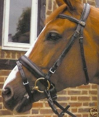 Heritage English Leather Comfort Bridle - Havana - Full