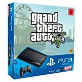 PlayStation 3 - Konsole Super Slim 500 GB (inkl. DualShock 3 Wireless Controller + GTA V)