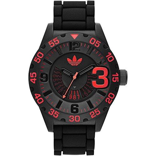 adidas Originals Newburgh 3D Chronograph Unisex Sports Watch Black / Red