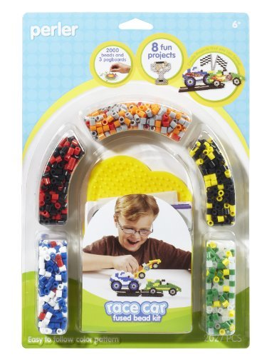 Create Fused Beads Cars, Flags And Trophies To Have Your Own Races - Perler Fused Bead Kit, Race Car