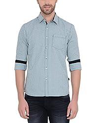 IDENTITI Men's Green Casual Shirt