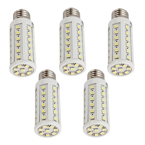 How Nice 9W Corn Light Bulb Lamp E27 44 Led 3000K Warm White 110V -Pack Of 5