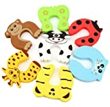 Miraclekoo-7-Pcs-Children-Safety-Animal-Foam-Door-Stopper-Cushion-Cushiony-Finger-Pinch-Guard-Set-for-Baby-Each-Animal
