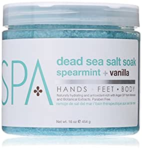 ... Lab Spa Dead Sea Salt Soak, Spearmint plus Vanilla, 16 Ounce : Beauty