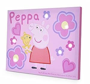 "Amazon.com: Peppa Pig LED Canvas Wall Art, 11.5 x 15.75"": Toys & Games"