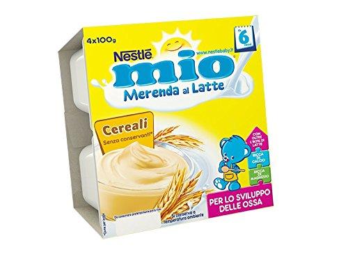 NESTLÉ MIO Merenda al Latte Cereali da 6 mesi  4 vasetti plastica da 100g