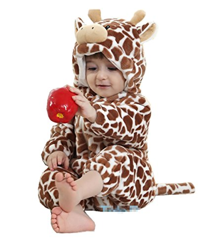JOYHY Unisex Baby Infant Fluffy Rompers Cute Animal Costume Outfits Giraffe