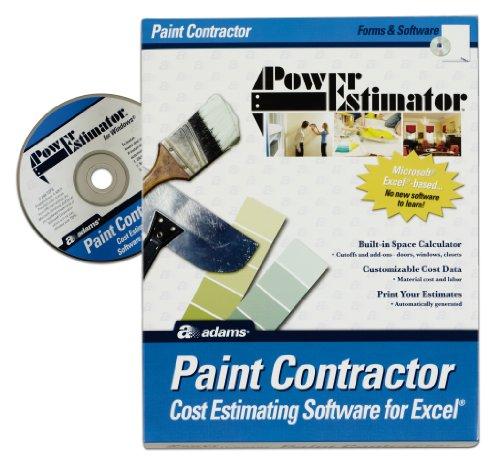 Best Deals Adams Powerestimator Paint Contractor 39 S Estimating Software Cd Rom Alb504sw