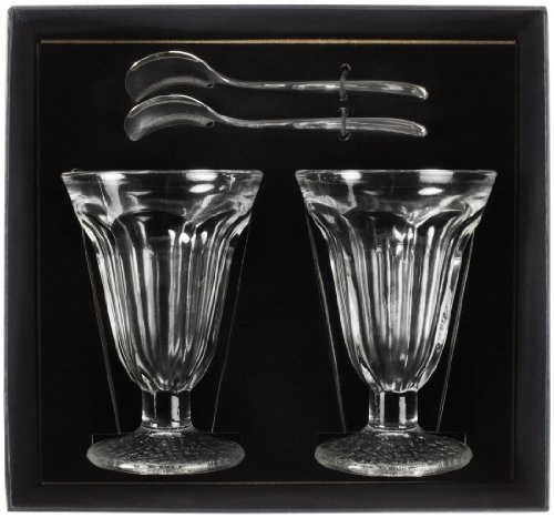 Andrew James - Set De 2 Verres À Sundae / Crème Glacée Sundae + 2 Cuillères À Glace Dans Un Coffret Cadeau Élégant