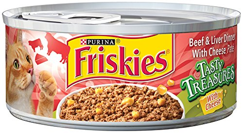 Friskies Tasty Treasures Beef & Liver Dinner With Cheese