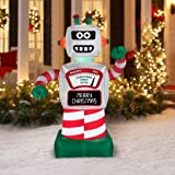6' Animated Robot Airblown Inflatable Christmas Prop Holiday Yard Decor