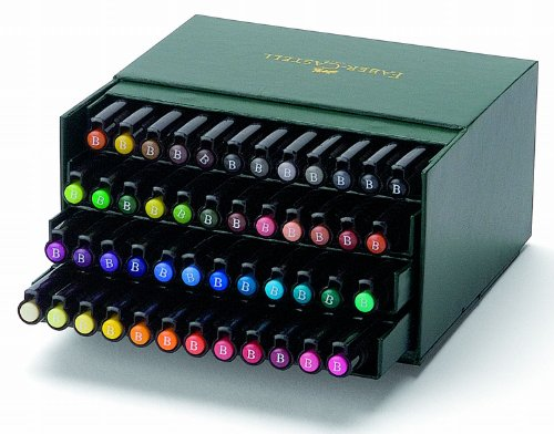 Faber-Castell Pitt Artist Pen Gift Box - 48 Colours