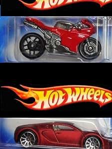 hot wheels detailed diecast cream red bugatti veyron 10 spoke 1098r bike extreme. Black Bedroom Furniture Sets. Home Design Ideas