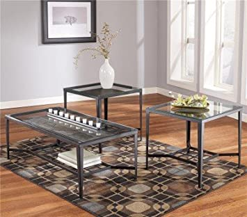 Contemporary Dark Bronze Occasional Table Set
