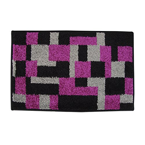 Indian Microfiber Geometric Pattern Self Hard Base Polypropylene Doormat front-96704