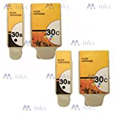 4x Inks Compatible Kodak 30B/30CL Ink Cartridge Black & Colour replace for use in Kodak ESP 1.2 3.2 C110 C310 C315 Office 2170 & Hero 3.1 5.1 printers