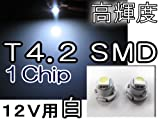 LED T4.2/1Chip/SMD/1発/白/2個セット