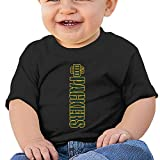 DVPHQ Baby's Green Bay Football Logo Packers T-srhits Little Boy's & Girl's Black Size 24 Months (6-24 Months)