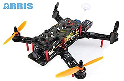 ARRIS FPV250 250 Mini Racing Sport Carbon Fiber Quadcopter BNF w/ Video Transmitter for FPV (Assembled)