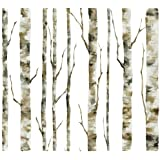 York Wallcoverings BS5334 Room To Grow Enchanted Forest Wallpaper, White/Grey/Tan/Brown