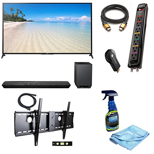 "Sony Kdl70W850B 70-Inch 1080P 120Hz 3D Smart Led Tv + Sony Htst7 Hd Soundbar With Wireless Subwoofer + Google Chromecast Hdmi Streaming Media Player + 3M High Speed Orange Gold Hdmi Cable For 2160P, 3D, And 4K + Focus 32""-70"" Tv Bracket Mount 165 Lbs Capa"