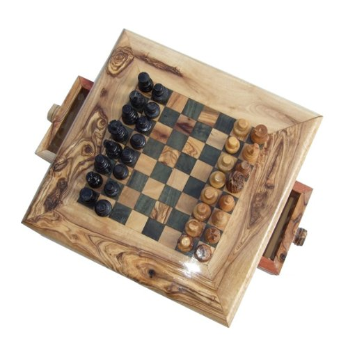 Cheap naturally med olive wood chess set - Inexpensive chess sets ...