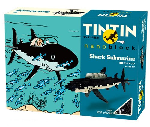 Nanoblock - Tintin - Shark Submarine - 900pcs Set