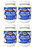 KTC 100% Pure Coconut Multipurpose Oil 500ml Jar x 4 Qty (pack of 4) - Used f...