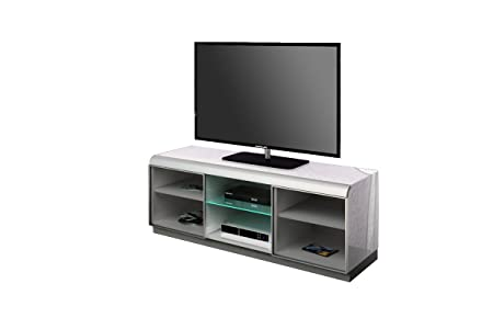 Triskom TV Cabinet for LCD, LED or Plasma Screens 37,40,42,46,47,50,52, 55, 60 inch by SAMSUNG, LG, SONY, PHILIPS, TOSHIBA, PANASONIC, JVC. (White Gloss)