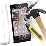 GAPlus® Sony Xperia Z - Premium Quality Tempered Glass Screen Protector Ultra Thin Lightweight Rounded Edge Hardness up to 9H (harder than a knife) - Includes Microfiber Cleaning Cloth
