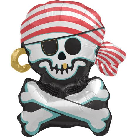 "14"" Airfill Self Sealing Jolly Roger"