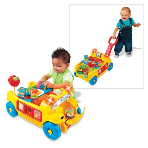 Fisher-Price Peek-A-Blocks Sort And Roll School Bus