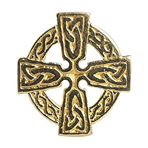 Celtic Cross Tie Tac - Made in Ireland (10k)