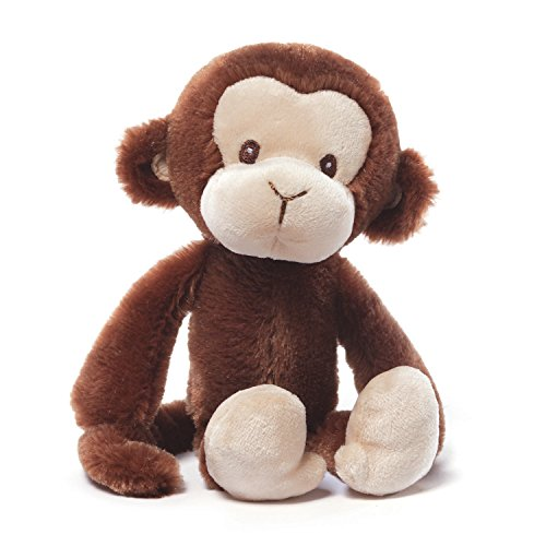 Gund Baby Nicky Noodle Stuffed Monkey Baby Rattle