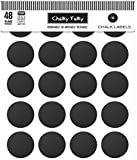 1 X Chalky Talky 48 Reusable Chalkboard Spice Labels - Blank Fit To Customize Your Spice Containers Tops & Sides