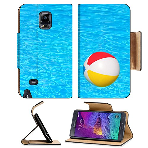 Flip Pu Leather Wallet Case Samsung Galaxy Note 4 MSD Premium Inflatable ball floating in swimming pool IMAGE 30548029