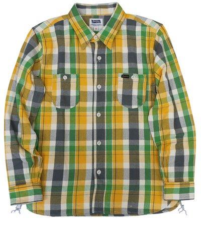 (フェローズ)PHERROW'S長袖 ワークシャツ チェックシャツ ネルシャツ 17W-720WS