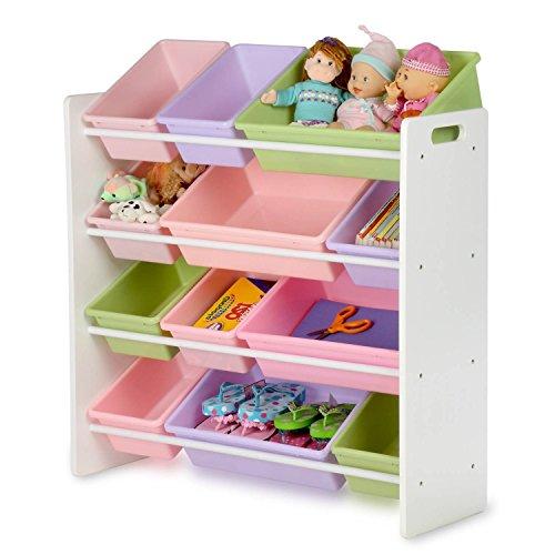 Honey Can Do Srt  Kids Toy Organizer And Storage Bins White Pastel