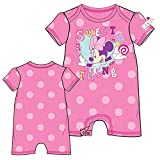 Disney Minnie Mouse ' Sweet Thing ' Baby Girls Polka Dot Romper - Hot Pink