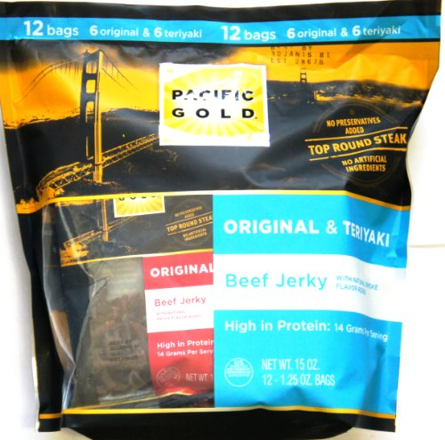 PACIFIC GOLD ALL NATURAL 97% FAT FREE BEEF JERKY