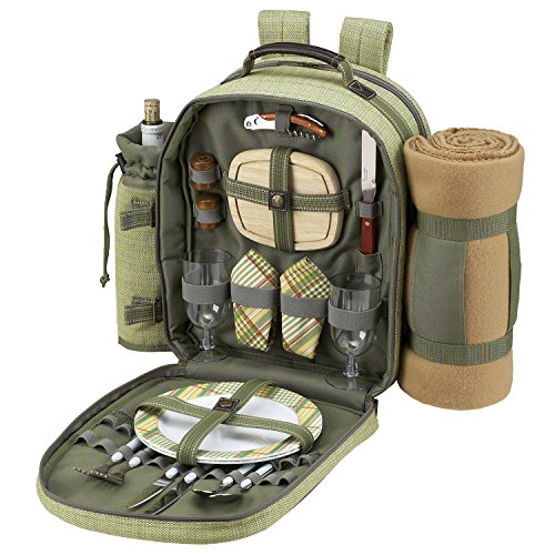 Buy Discount Hamptons Backpack with Blanket and Two Place Settings