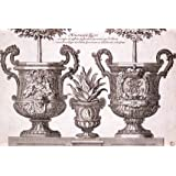 Design for two garden planters, by Daniel Marot (V&A Custom Print)